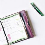 planner sunday green and black theme