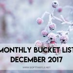 monthly bucket list december 2017
