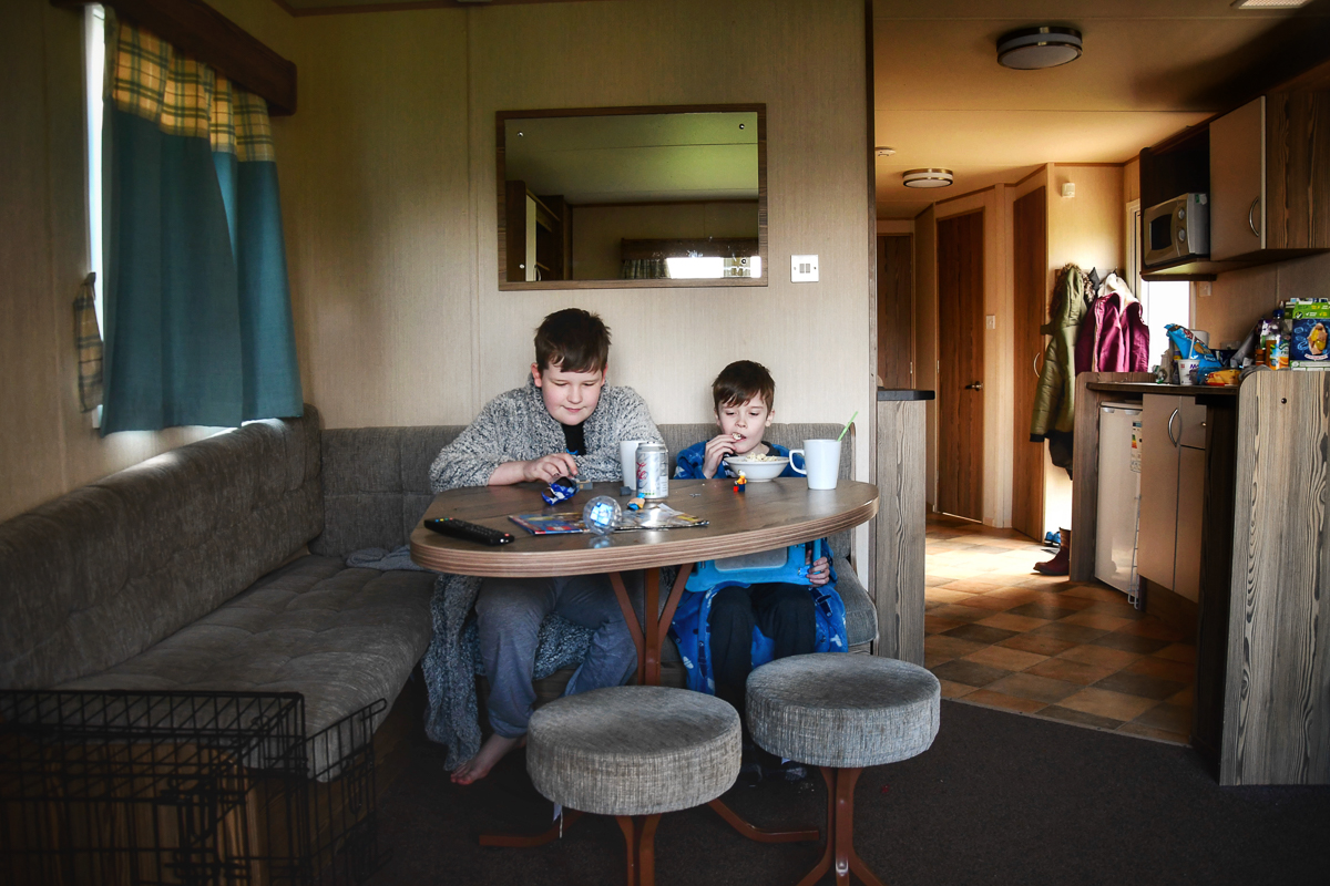 Inside the Deluxe Caravan at Craig Tara Haven Holiday Park